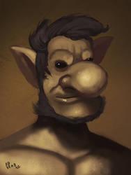 Aristocractic goblin by IcedEdge