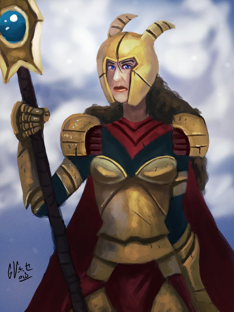 warrior girl by IcedEdge
