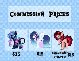 COMMISSION PRICES - NO LONGER AVALIABLE by Azure-Art-Wave