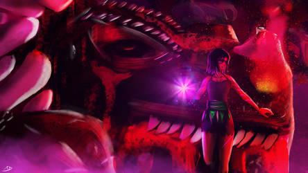 Dragon Slayer + [SpeedPaint Video] by abysan