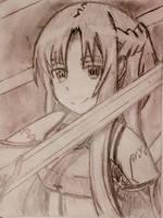Asuna - Sword Art Online by abysan