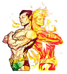 Namor and Jim by dogsup