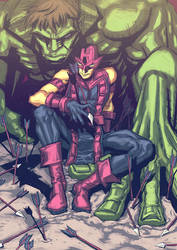 Hulk and Hawkeye by dogsup