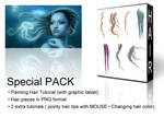 Painting Hair Tutorial - Special Pack by LuneBleu