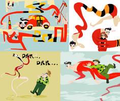 Plastic Man doodles by Spoonfayse