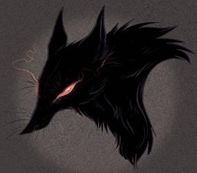 black dog by Spoonfayse