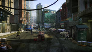 Sleeping Dogs - North Point Safehouse courtyard by Kuren