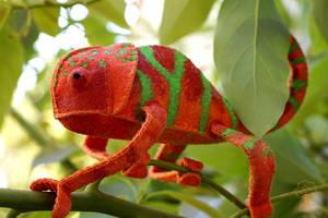 Custom Painted Chameleon 6 by quirkandbramble