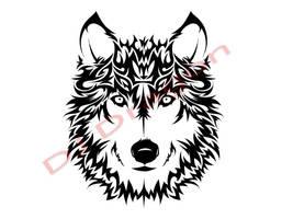 Wind Style Wolf Tribal by DJDragon
