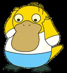 art trade: homer as a pokemon by DrewTheRedPoochyena