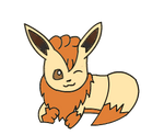 Eevee Vulpix hybrid by DrewTheRedPoochyena