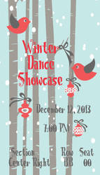 Winter Show Ticket by FoolToMuse