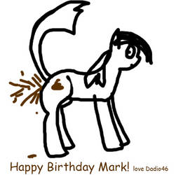 HAPPY BIRTHDAY MARK (Undefined Variable) by dadio46