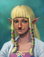 Priestess Zelda - SS by Mudora