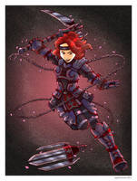 Black Widow- Ninja Style by Saturn-Kitty