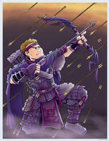 Hawkeye- Ninja Style by Saturn-Kitty