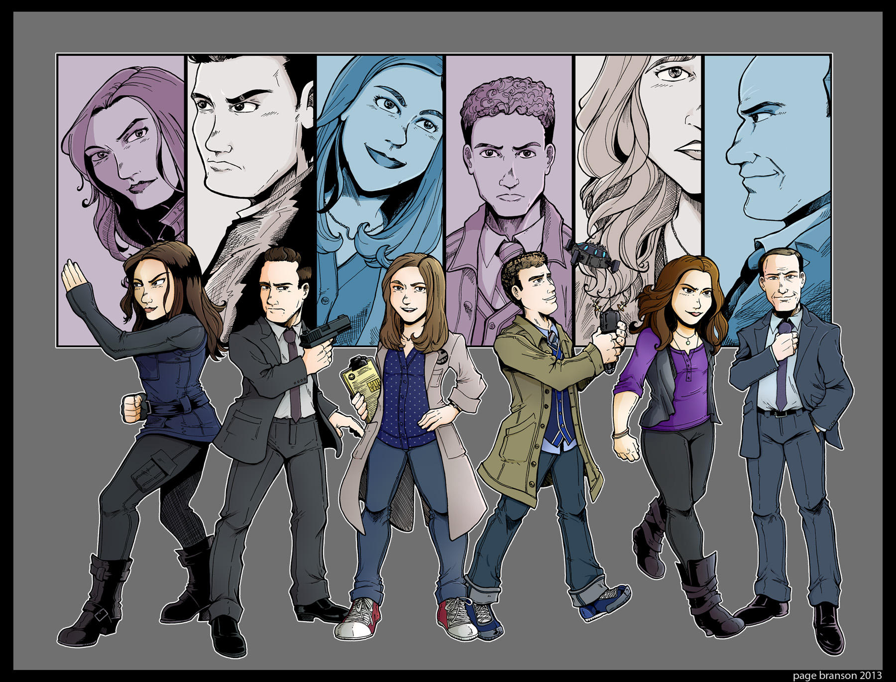 Agents of S.H.I.E.L.D. Line Up by Saturn-Kitty