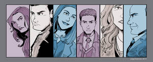 Agents of S.H.I.E.L.D. Line Up- Version 2 by Saturn-Kitty