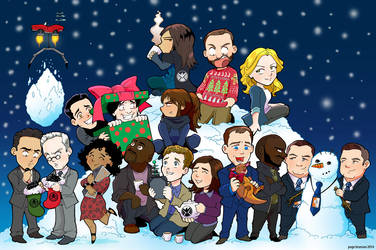 S.H.I.E.L.D. Holiday Portrait 2014 by Saturn-Kitty
