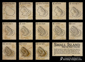 Fantasy map - Step by step tutorial by Djekspek