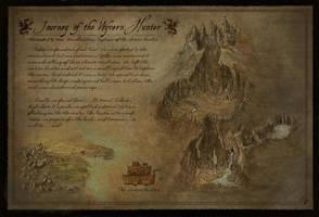 Fantasy Map - Journey of the Wyvern Hunter by Djekspek