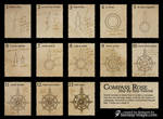 Fantasy Map Tutorial - Compass Rose by Djekspek