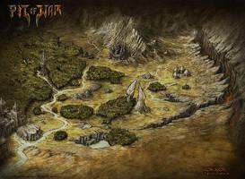 Pit Of War Fantasy Map - Rok'Kor by Djekspek