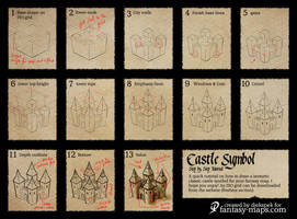 Fantasy Map Tutorial - Castle Symbol by Djekspek