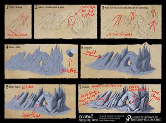 Step-by-Step Tutorial - Ice wall symbol by Djekspek