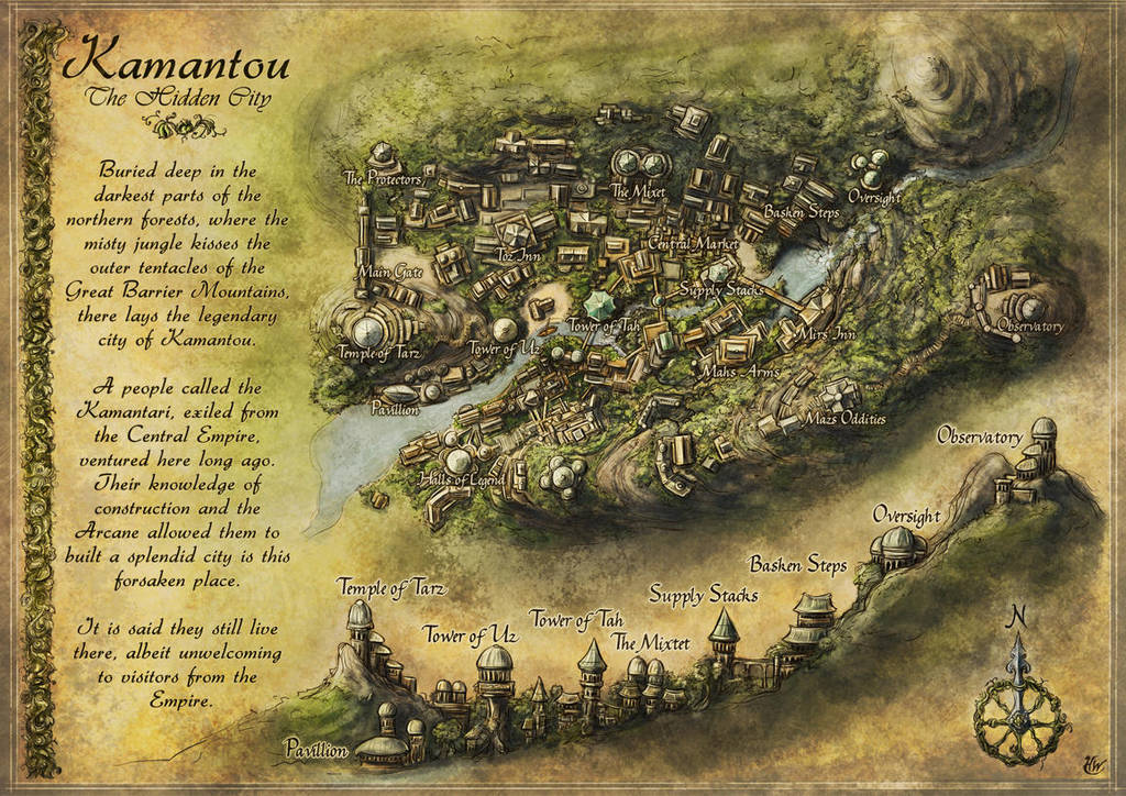 Kamantou - City Map by Djekspek