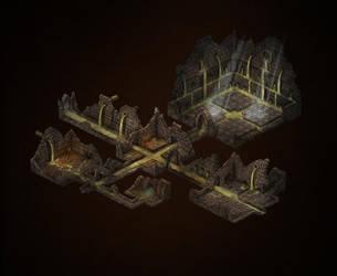 Pit Of War - Dungeon Map by Djekspek