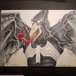 Inktober Day 5: Chicken (Venomized) by Dragonlord42