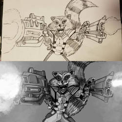 WIP: Rocket Raccoon digital conversion by Dragonlord42