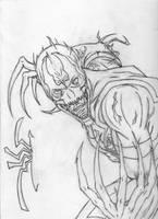 Anti-Venom: Epic sketch by OrionSTARB0Y