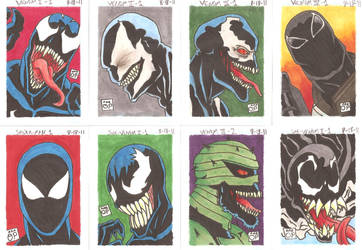 Mantle of Venom Sketchcards by OrionSTARB0Y