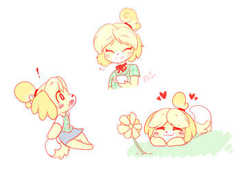 Isabelle Sketches by HungrySohma16