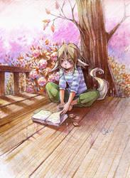 Reading Fox 2 by deerfox-art