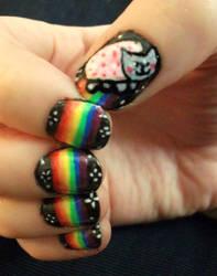 Nyan Cat Nails by kaylamckay