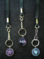 Mass Effect N7 Renegade Paragon Lanyards by Monostache
