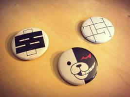 Dangan Ronpa Pinback Buttons by Monostache