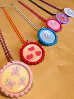 My Little Pony Mane 6 Necklace Set - Revised by Monostache