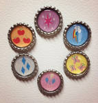 My Little Pony Mane 6 Magnet Set - Handmade by Monostache