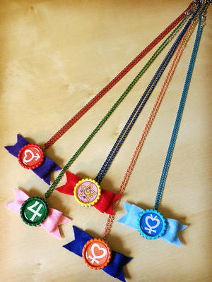 Sailor Senshi Bow Necklaces - Handmade - Inner by Monostache