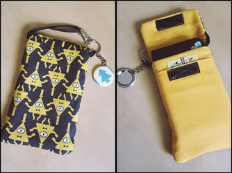 Bill Cipher Gravity Falls Purselet - Handmade by Monostache