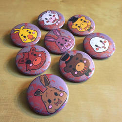 FNAF Button Set by Monostache