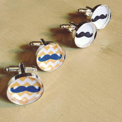 Mustache Cuff Links by Monostache