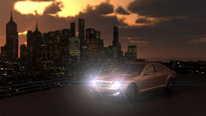 Mercedes S Class at Sunset Lit by DesignedByJeff