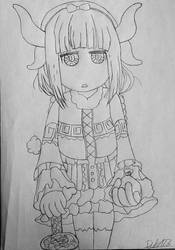 Inktober 2017 - 3 Kanna the POISON dealing loli dr by TheEvilHadrosaur