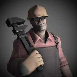 Engineer Portrait Pale - Team Fortress 2 by DieKeksRebellion