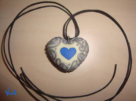 Double heart necklace by Valkyrie-21